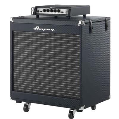 """AMPEG Portaflex PF350 Bass Amp Head & PF115HE 1x15"""" Flip Top Bass Cabinet"""