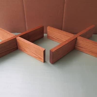 Solid oak speaker stands