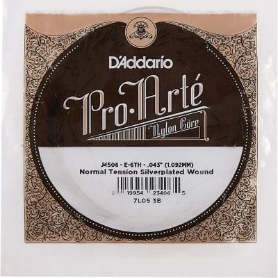 D'Addario J4506 Pro-Art Nylon Single Classical Guitar String, Normal Tension, Sixth String