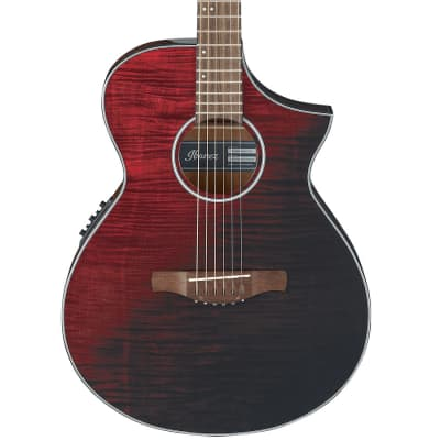 Ibanez AEWC32FMRSF Thinline Acoustic-Electric Guitar Red Sunset Fade