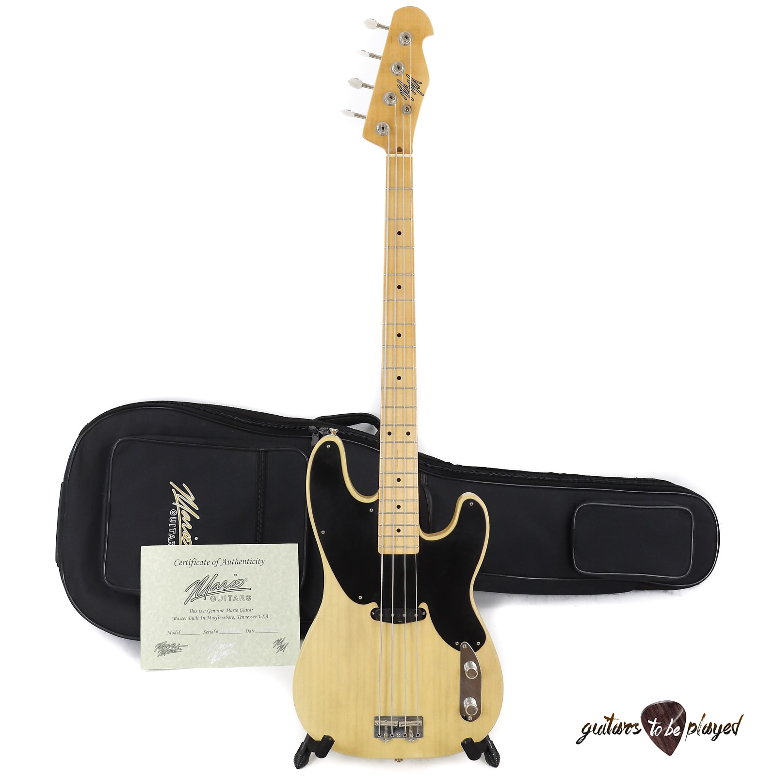 Mario Martin T-Bass Telecaster Bass, Mojotone '52 Clone P-Bass Pickup - 6lb 6oz