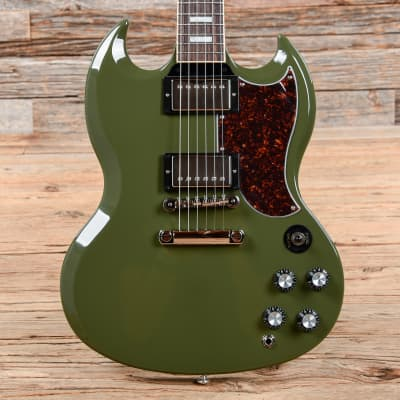 Gibson USA SG Standard Olive Drab w/Tortoise Pickguard & T-Type Pickups (CME Exclusive) USED