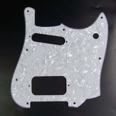 Replacement Guitar Pickguard For Squire Cyclone ,4ply White Pearloid image