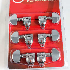Grover 102-18C Rotomatic 18:1 Guitar Machine Head Tuners - Set of 6 (3x3) CHROME for sale