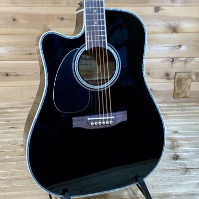 Takamine EF341DX Left Handed Acoustic Guitar - Black