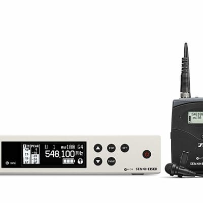 Sennheiser EW 100-ME2 Wireless Omni Lavalier Microphone System-G Band (566-608Mhz) White/Black  New