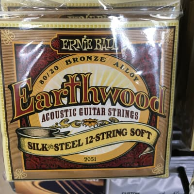 Ernie Ball 2051 Earthwood 80/20 Bronze Silk and Steel Soft 12-String Acoustic Guitar Strings (9-46)