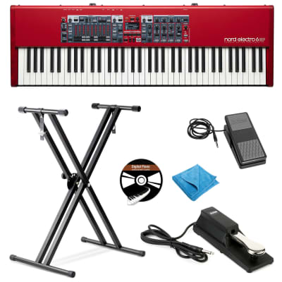 Nord Electro 6HP 73-Note Portable Keyboard W/Stand,Expression&Sustain Pedal,DVD, Cloth