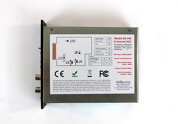 Description Policies Millennia Ad 596 8 Channel 500 Series A D Converter Module