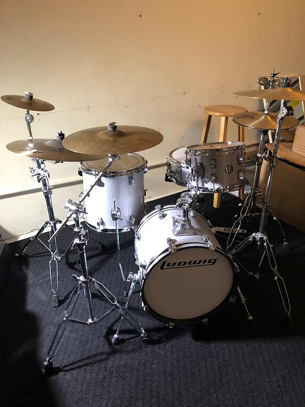 ludwig questlove breakbeats kit 2017 white sparkle reverb. Black Bedroom Furniture Sets. Home Design Ideas