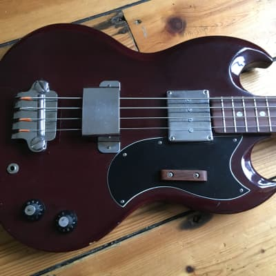 Avon By Rose Morris Short Scale SG Bass Guitar EB0 for sale