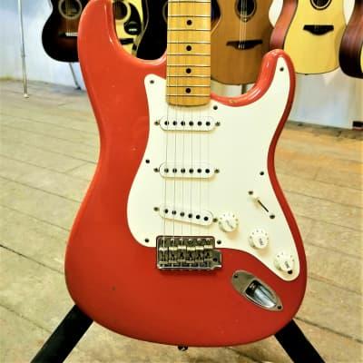 Fender Custom Shop '56 Reissue Stratocaster Relic 2003 Fiesta Red for sale