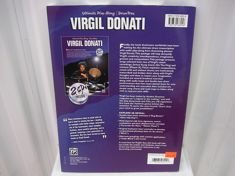 Virgil Donati Ultimate Play Along Drum Trax & CDs Sheet Music Song Book  Songbook