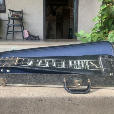 Airline  6 string lap steel  1950s Black for sale