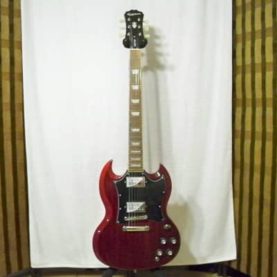 Epiphone Limited Edition 1966 G-400 PRO Electric Guitar Cherry w~Epiphone Gig Bag for sale