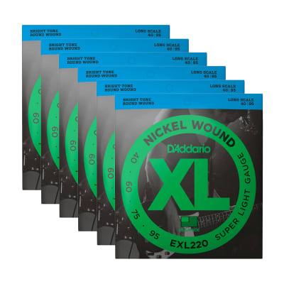 D'Addario EXL220 40-95 Long 6 Pack Bundle