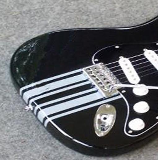 Double Racing Stripes Black Sticker Vinyl Guitar Bass Reverb