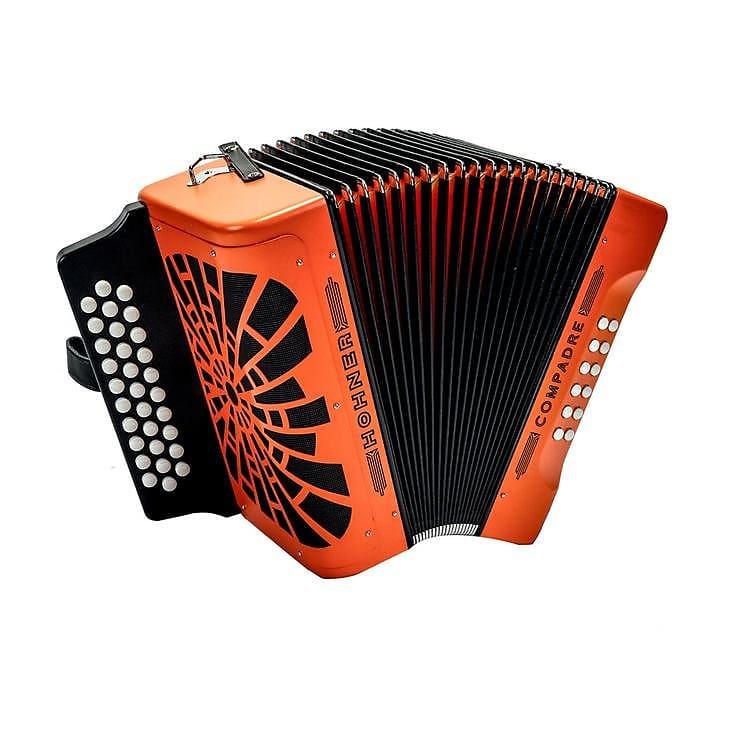 hohner cofo button accordion compadre fa orange reverb. Black Bedroom Furniture Sets. Home Design Ideas