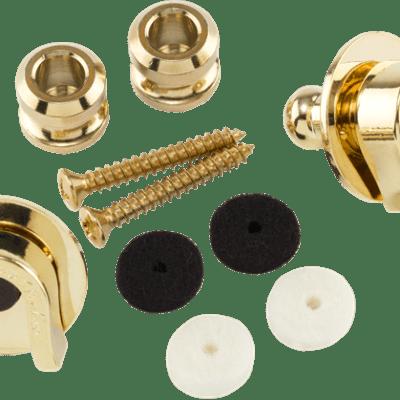 Genuine Fender Schaller Gold Strap Locks Straplocks 0022043049 NEW