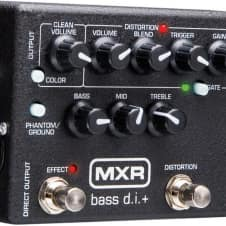 MXR M80 Bass D.I.+ Direct Box Pedal with Distortion and Noise Gate