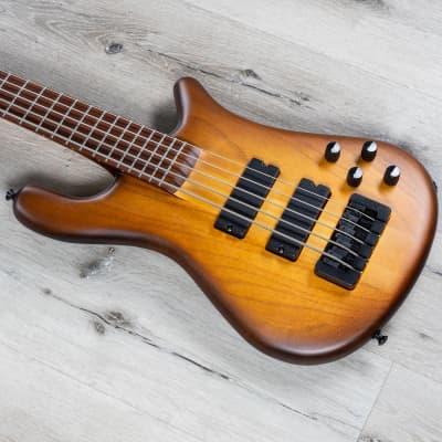 Spector USA Forte 5, 5-String Bass, Pau Ferro Fretboard, Tobacco Sunburst for sale