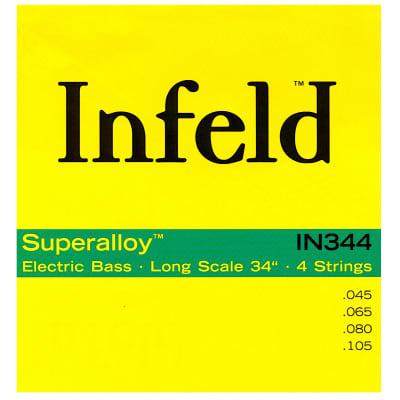 Thomastik-Infeld IN344 Infeld Superalloy Long Scale 4-String Bass Set - Medium Light (.45 - .105)