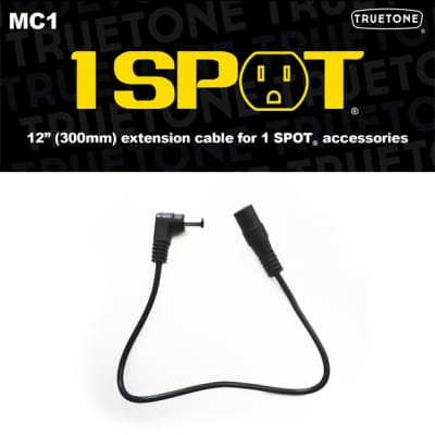 "Truetone MC1 12"" Extension Pedal Power Cable F-M 5.5 x 2.1mm"