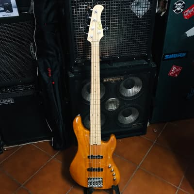 Cort GB75JJ GB Series Electric Bass Cort Guitars Amber for sale