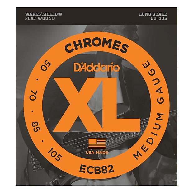 d 39 addario ecb82 chromes flatwound bass strings medium reverb. Black Bedroom Furniture Sets. Home Design Ideas