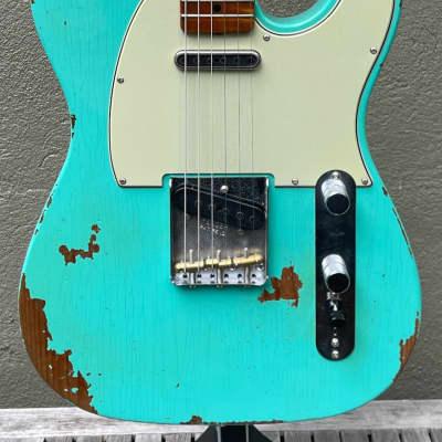 2021 Fender Custom Shop '63 Telecaster GT11 Heavy Relic Seafoam Green Roasted Maple Neck for sale