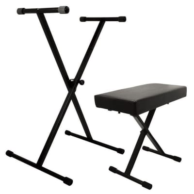 On-Stage Stands KPK6500 Keyboard Stand and Keyboard Bench Pack