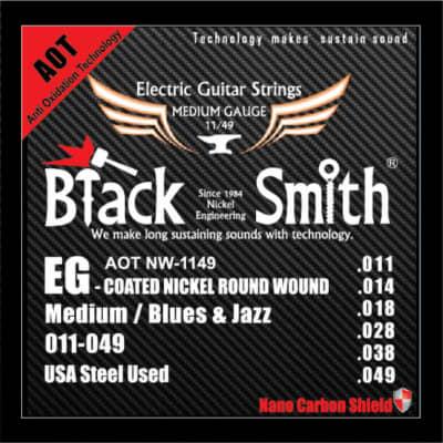 BLACKSMITH Electric 6 String Set, Nano-Carbon Coated Steel - Medium 011 - 049