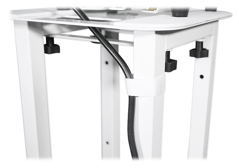 1 Rockville White Adjustable Totem Speaker Stand For