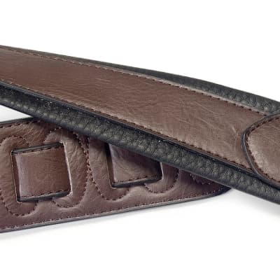 Stagg Padded Leather-Style Strap Dark Brown for sale