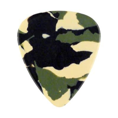 Celluloid Woodland Camo Guitar Or Bass Pick - 0.71 mm Medium Gauge - 351 Shape - 1 Pack New