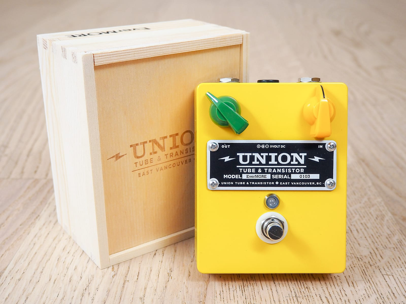 Union Tube & Transistor EverMore Boost Guitar Preamp Effects Pedal Brand New