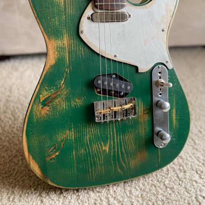 Barncaster / Partscaster Telecaster Two Tone Nitro Lacquer Finish Heavy Relic for sale