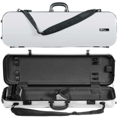 Galaxy Audio Galaxy Comet 500SL Oblong White Violin Case with Gray interior for sale