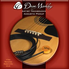 Dean Markley DM3001 Artist XM Transducer Acoustic Pickup w/ Endpin Jack