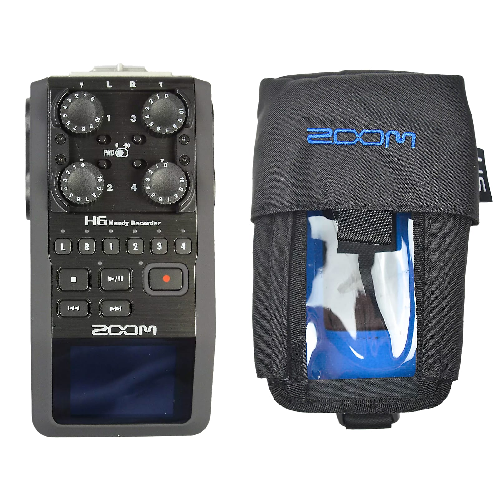 Zoom H6 Handy Recorder and Protective Case Bundle