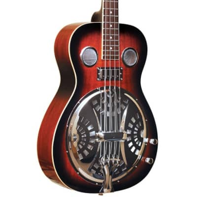 Gold Tone Paul Beard Signature Series PBB Roundneck Resonator Bass Guitar w/Case for sale