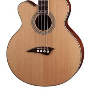 Dean Left Hand 4 String Acoustic/Electric Cutaway Bass, Satin Natural, EABC L for sale