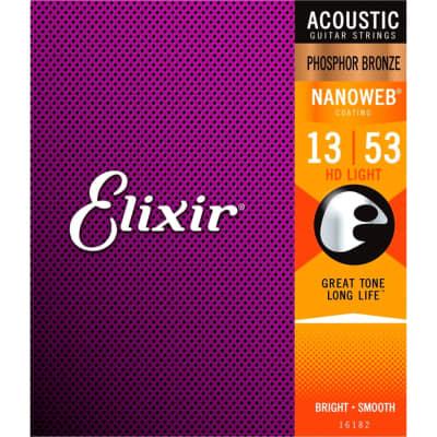 Elixir Acoustic Guitar Strings, Phosphor Bronze, HD Light, .013-.053