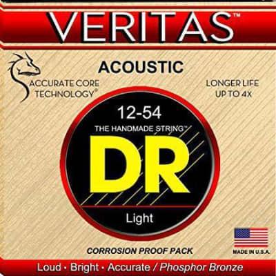 DR Strings VTA-12  Veritas Phosphor Bronze Acoustic Guitar Strings  Light 12-54 for sale