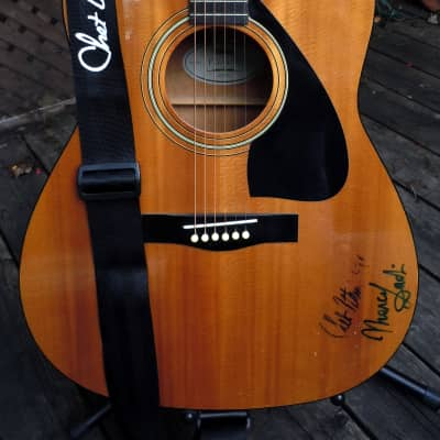 Chet Atkins and Marcel Dadi Yamaha FG400 Hand signed 1990 Natural for sale