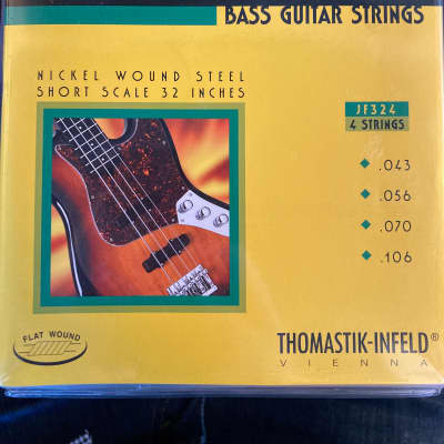 Thomastik-Infeld JF324 Jazz Flat Wound Nickel Roundcore Bass Strings - Medium (.43 - .106)