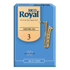 Rico RLB1030 Royal Baritone Saxophone Reeds - Strength 3.0 (10-Pack)