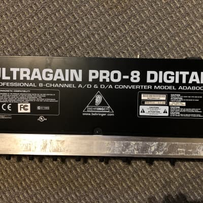 Behringer Ultragain Pro-8 Digital ADA8000 8-Channel Mic Preamp with A/D Converter 2007 Black / Silver