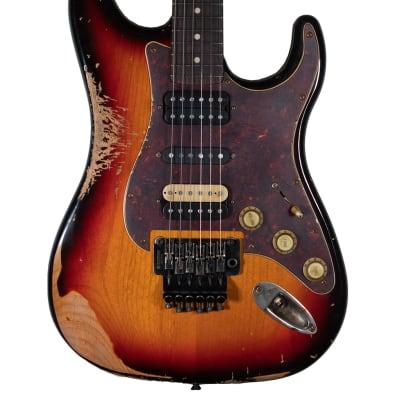 LSL Saticoy Mick Mars Tribute 3 Tone Sunburst Electric Guitar - Heavy Aging for sale