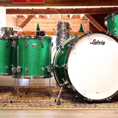 Ludwig Classic Maple 4pc Bonham Drum Set Green Sparkle